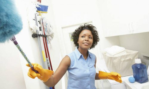 Black-woman-cleaning-a-house